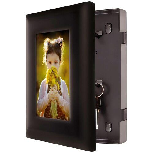 Master Lock Schlüsselkasten »Mit 5 Schlüsselhaken«, Stahl, mit 10 x 15 cm großem Bild, schwarz