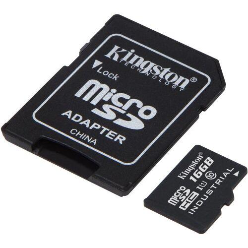 Kingston Speicherkarte »microSDHC Industrial Temp, UHS-1 m. SD Ad., 16GB«, Schwarz