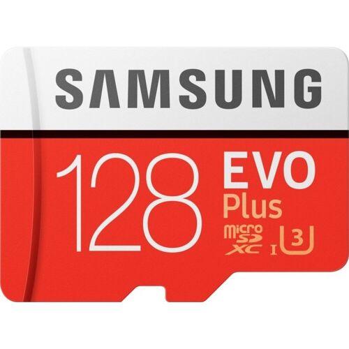 Samsung »EVO Plus microSD« Speicherkarte (128 GB, 100 MB/s Lesegeschwindigkeit, Größte Kapazität, Speicherkarte + Adapter)