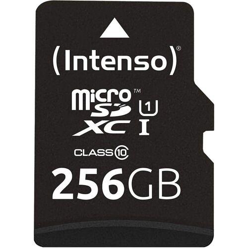 Intenso »Micro SDXC Karte Speicherkarte 256GB UHS-I Premium mit Adapter« Speicherkarte