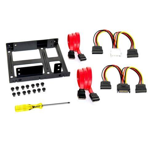 FANTEC Einbaurahmen für 2x 2,5 Zoll HDD/SSD »Einbaurahmen«, schwarz
