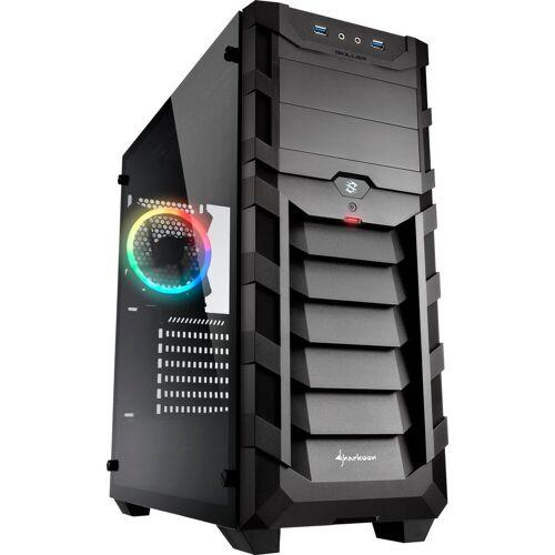Sharkoon PC-Gehäuse »SKILLER SGC1 RGB, Seitenteil aus gehärtetem Glas«