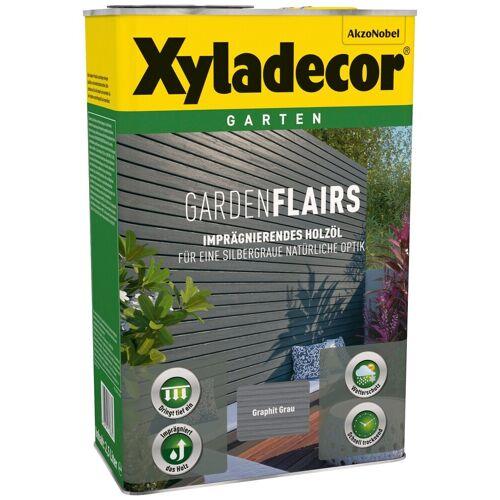 Xyladecor Xyladecor Holzöl »Garden Flairs«, für Gartengestaltung, graphit grau, 0,75 l