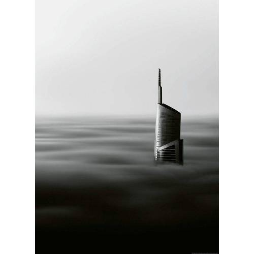 Idealdecor Fototapete »Wolkenkratzer«, grafisch, (2 St), Vlies, 2 Bahnen, 183 x 254 cm