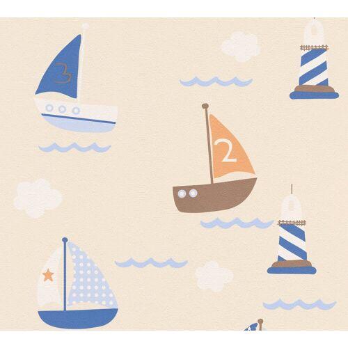 A.S. Création Papiertapete »Boys & Girls 6 mit Segelbooten«, geprägt, Meer