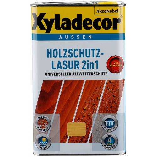 Xyladecor Xyladecor XYLADECOR Holzschutzlasur »2in1«, 2 in 1, nussbaum