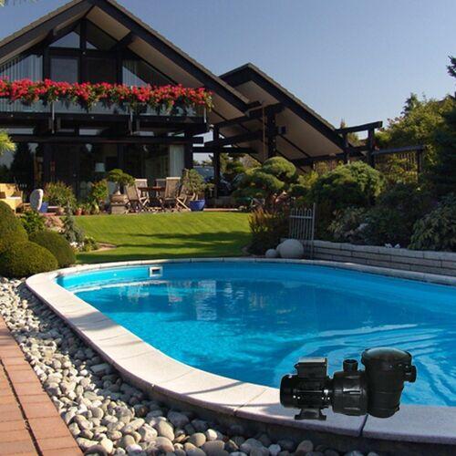 Oskar Pool-Filterpumpe »Poolpumpe Schwimmbadpumpe mit Vorfilter 16 m³«