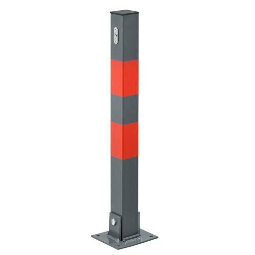 neu.haus Wegfahrsperre, Parkplatzpfosten Parkplatzsperre Höhe 65 cm mit Schlüssel