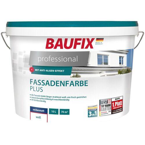 Baufix Fassadenfarbe »professional«, hoch wetterbeständig, weiß, 10 L, weiß