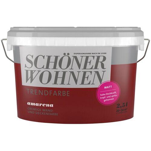 SCHÖNER WOHNEN-Kollektion SCHÖNER WOHNEN FARBE Wand- und Deckenfarbe »Trendfarbe Amarena, matt«, 2,5 l, Amarena