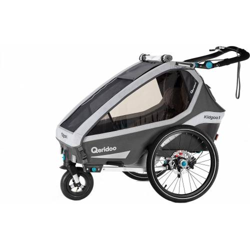Qeridoo Fahrradkindersitz »Kidgoo1 Sport 2020 Petrol«, grau