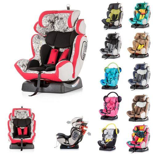 Chipolino Autokindersitz »Kindersitz 4 Max Gruppe 0+/1/2/3«, 9 kg, (0 - 36 kg), Seitenaufprallschutz, rot