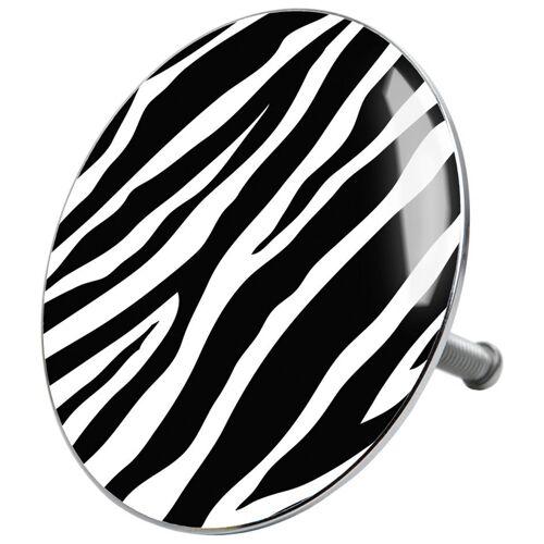 Sanilo Stöpsel »Zebra«, für Badewannen und Duschen, Ø 7,2 cm, schwarz-weiß