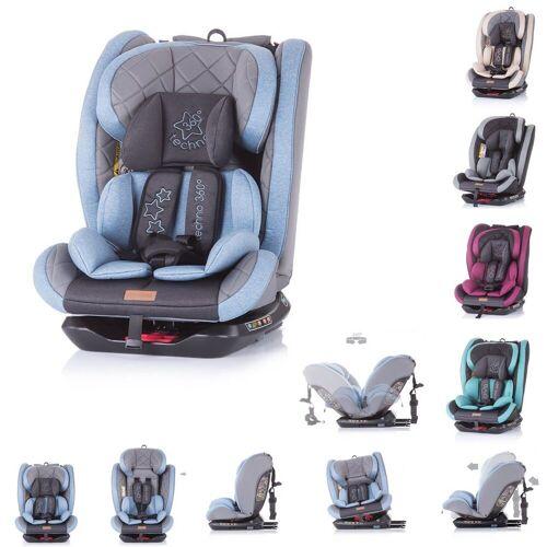 Chipolino Autokindersitz »Kindersitz Techno Gruppe 0+/1/2/3«, 9.6 kg, (0 - 36 kg) Isofix, 360 Grad drehbar, blau