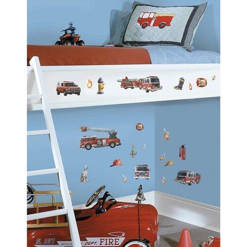 RoomMates Wandsticker »Wandsticker Feuerwehr, 22-tlg.«
