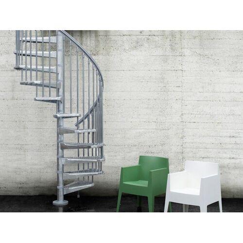 Außentreppe »Steel Zink«, für Geschosshöhen bis 305 cm, Ø: 120 cm