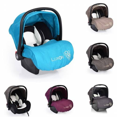 Moni Babyschale »Babyschale, Kindersitz Luxor, Gruppe 0+«, 2.9 kg, (0 - 13 kg), Sitzpolster, Fußabdeckung, tuerkis