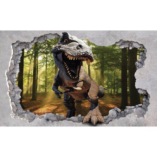 Consalnet Fototapete »Dinosaurier«, Papier, in verschiedenen Größen, braun/grau/grün