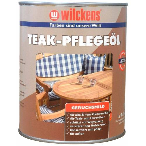 Wilckens Farben Lack-Lasur »Teak-Pflegeöl«, transparent