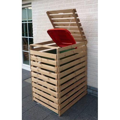promadino Mülltonnenbox »Vario V«, für 1 x 240 l, holzfarben, holzfarben