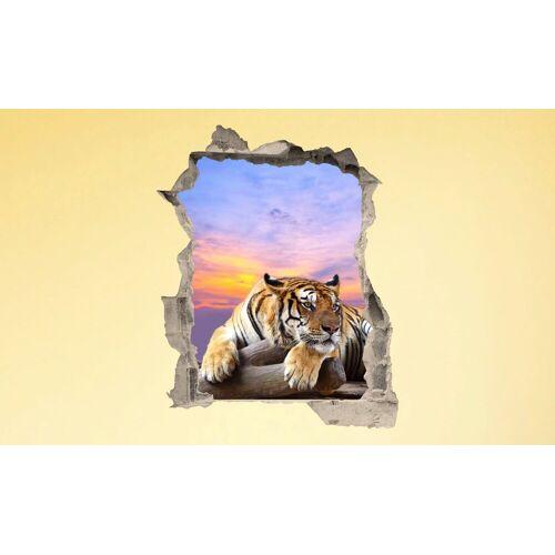 Conni Oberkircher´s Wandsticker »3 D Sticker Beton Tiger Resting«