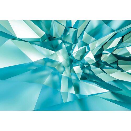 Komar Fototapete »3D Crystal Cave«, abstrakt