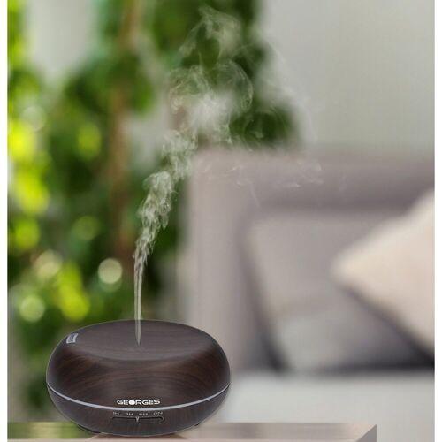 GEORGES Diffuser Ultraschall Luftbefeuchter Aroma-Diffuser 300 ml Holzmaserung Dark Wood