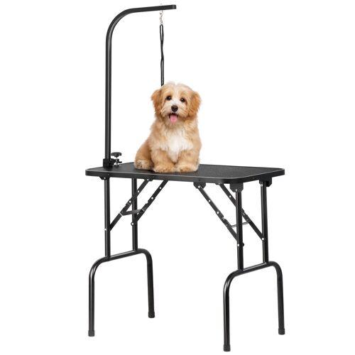 Yaheetech Hundeschermaschine, Hundepflegetisch, Trimmtisch für Hunde, Hundefriseur Tisch, Hunde Badetisch, Pudel Fellpflege, Hund Schertisch, höhenverstellbar, rutschfest, bis 100 KG belastbar