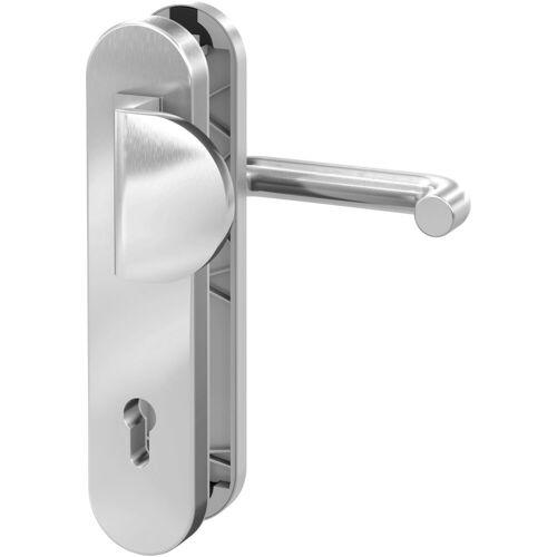 BASI Sicherheitsbeschlag »Edelstahl Haustürbeschlag«, Sicherheits-Türbeschlag SB 7200, silberfarben