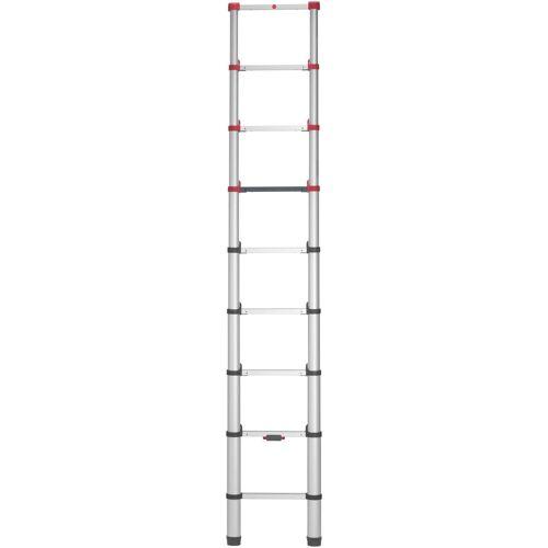 Hailo Teleskopleiter »Flexline 260«, mit 9 Sprossen, silberfarben