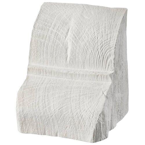 Homestar Deko-Konsole 20 x 13 cm, für Deckenbalken, Holzimitat, Eiche weiß, weiß