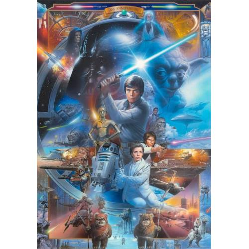Fototapete »Star Wars« 184/254 cm, blau