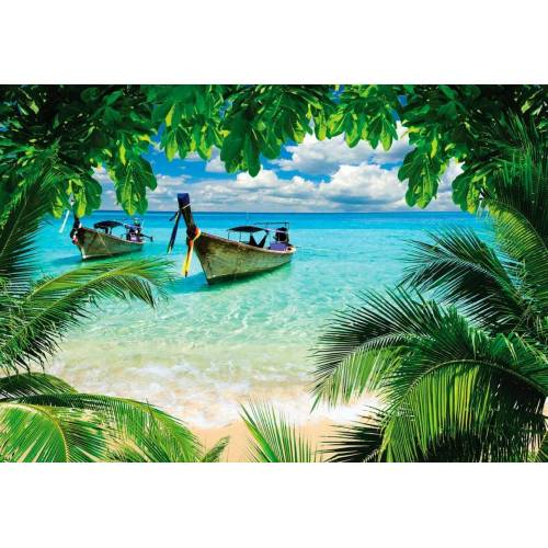 Fototapete »Paradies Insel«, 368/254 cm, blau