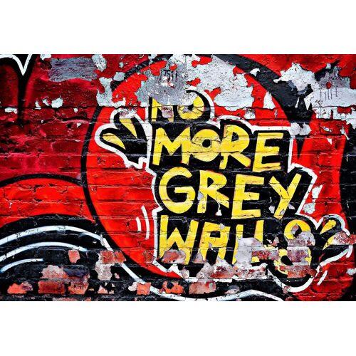 Fototapete »No More Grey Walls« 366/254 cm, rot