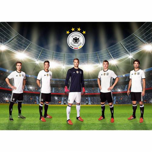 Deutscher Fußball-Bund Fototapete Unsere Mannschaft, selbstklebend, 350 x 250 cm, mehrfarbig