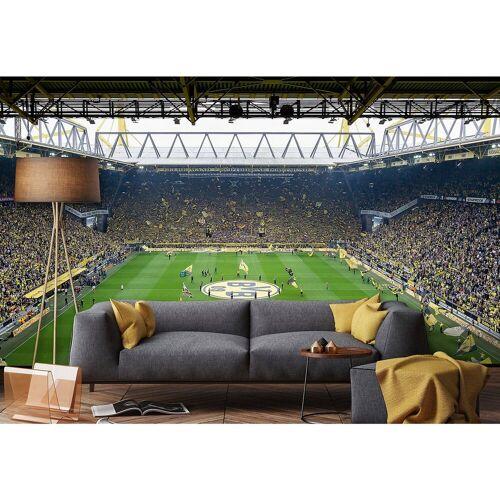 Borussia Dortmund Fototapete BVB Fan Choreo, 384 x 260 cm, mehrfarbig