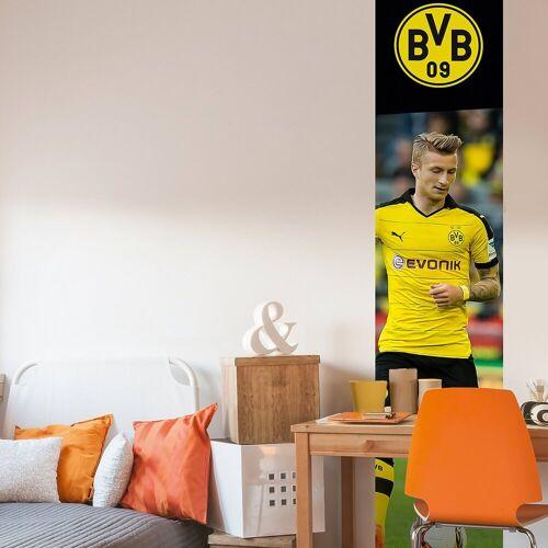 Borussia Dortmund Fototapete BVB Marco Reus, selbstklebend, 50 x 250 cm, mehrfarbig