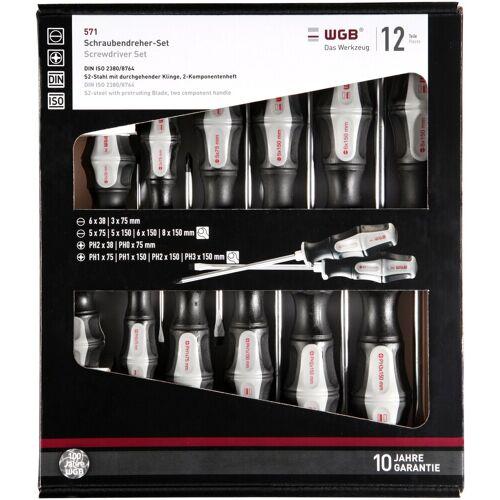 WGB Das Werkzeug Schraubendreher 12-tlg., Stahl, schwarz