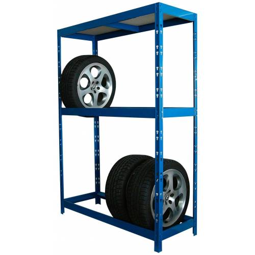 SZ METALL Schwerlastregal für 8 Reifen, blau