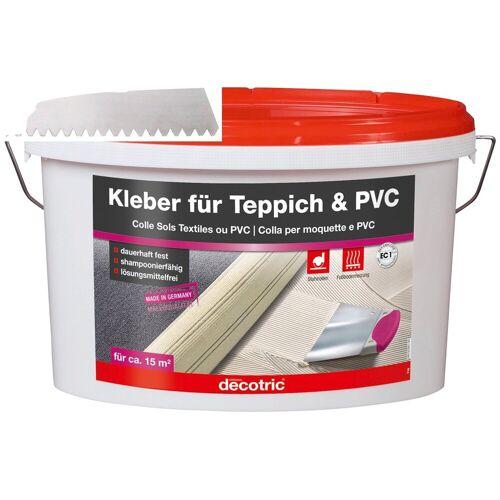 Bodenmeister Dispersionskleber »5kg Kleber und Zahnspachtel«, (2-tlg), für Teppichboden, PVC und Vinyl, reicht für ca. 20qm