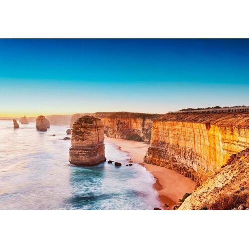 Idealdecor Fototapete »Klippe Sonnenuntergang Australien«, Vlies, 4 Bahnen, 368 x 254 cm, bunt