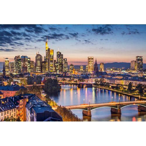 Papermoon Fototapete »Frankfurt am Main«, Vlies, 7 Bahnen, 350 x 260 cm, bunt
