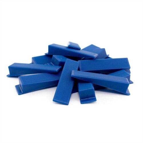 Lantelme Verlegeset »250 Keile für Fliesen Verlegehilfe«, (250-tlg), Fliesen Keile für Zuglaschen in blau