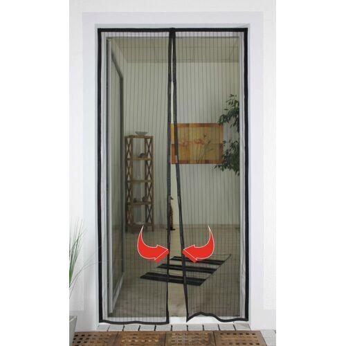 Nematek Insektenschutzplissee »® Insektenschutz Fliegengitter Magnetvorhang für Türen bis 100 x 220 cm, individuell kürzbar, anthrazit«,