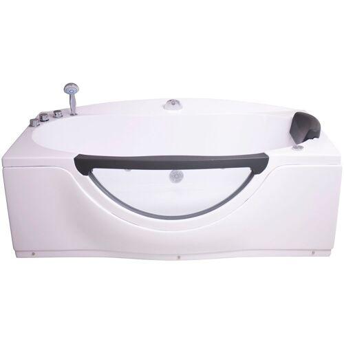 Sanotechnik Whirlpool-Badewanne »Acryl«, (4-tlg), 170/90/68 cm, mit Fenster, Acryl