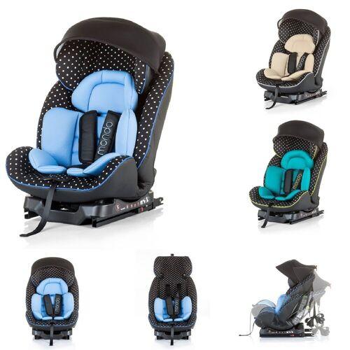 Chipolino Autokindersitz »Kindersitz Mondo Gruppe 0+/1/2«, 9.1 kg, (0 - 25 kg) Top Tether, Dach, blau