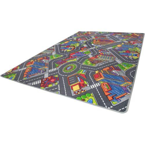 Andiamo Kinderteppich »Big City«, , rechteckig, Höhe 7 mm, Straßen-Spielteppich, Straßenbreite: 8,5 cm