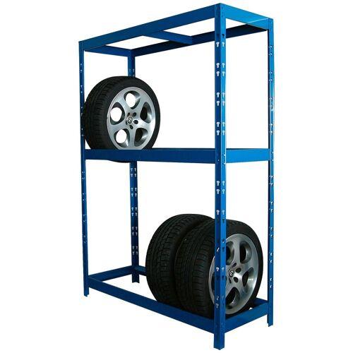 SZ METALL Schwerlastregal für 12 Reifen, blau