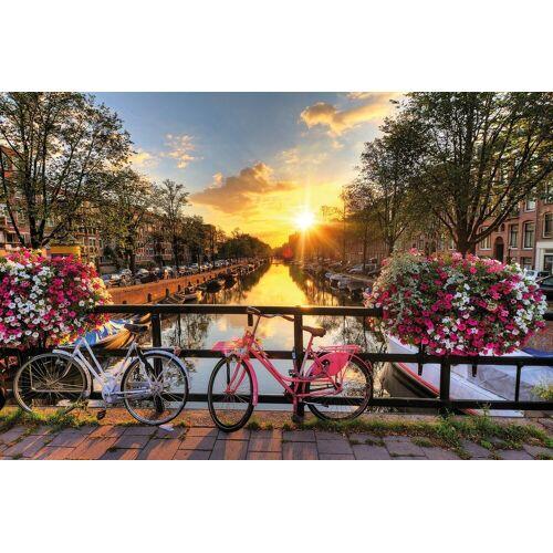 Papermoon Fototapete »Amsterdam Sunrise«, Vlies, 7 Bahnen, 350 x 260 cm