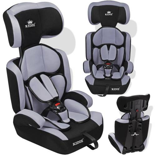 KIDIZ Autokindersitz, Autositz 9-36 kg Gruppe 1+2+3 Kinderautositz Stabil und Sicher Sitzschale Kindersitz, grau